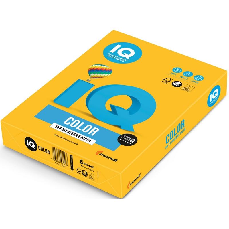 Бумага цветная для офисной техники IQ Color солнечно-желтая SY40 (А3, 80 г/кв.м, 500 листов)