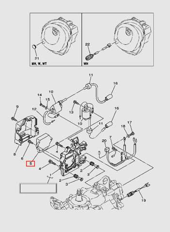 Коммутатор для лодочного мотора T40 Sea-PRO (9-5)