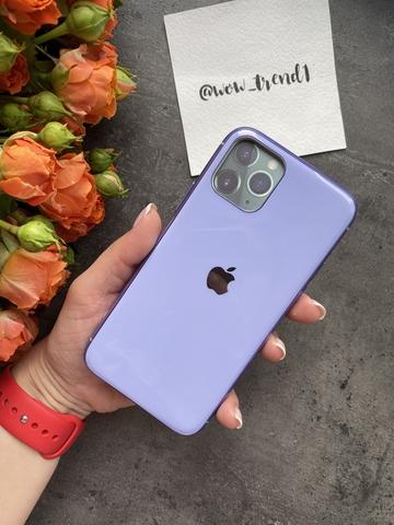Чехол Iphone 11 Pro Glass Silicone Case Logo /glycine/