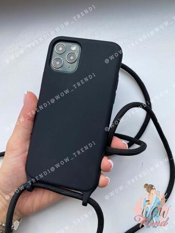 Чехол iPhone 7/8 Silicone Case crossbody bag /black/