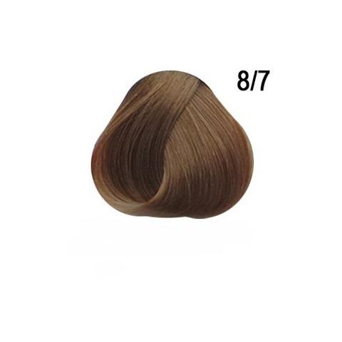 Перманентная крем краска для волос Ollin 8/7 светло русый коричневый