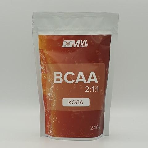 BCAA (БЦАА) 2:1:1 кола MVL, 240 гр