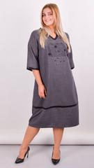 Таис. Платье для женщин плюс сайз. Серый.