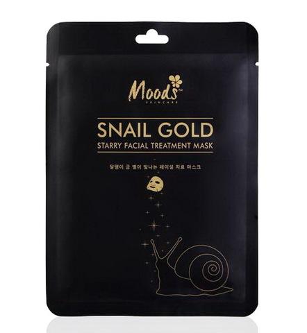 Тканевая маска для лица Moods Snail Gold starry facial treatment mask