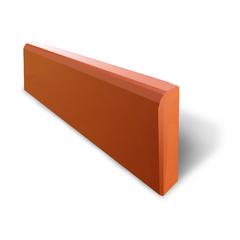 Бордюр тротуарный 500х210х70мм красный