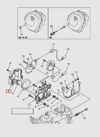 Кожух коммутатора для лодочного мотора T40 Sea-PRO (9-8)