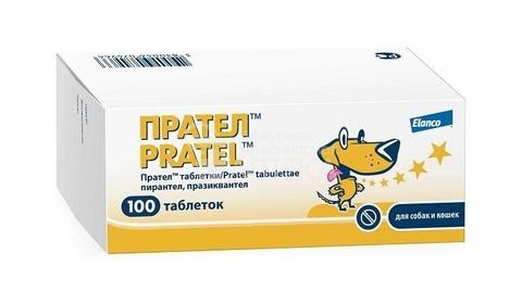 Прател - комбинированный противогельминтный препарат 1 таб