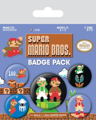 Значки Pyramid: Nintendo: Super Mario Bros. (Retro) набор 5 шт