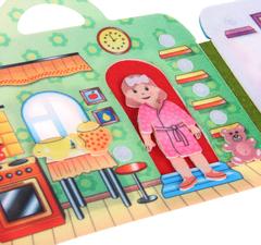 Сумка-игралка фетровый Кукольный домик, Smile decor