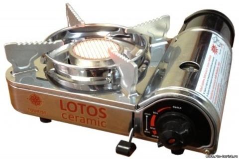 Газовая плита керамическая TOURIST LOTOS CERAMIC
