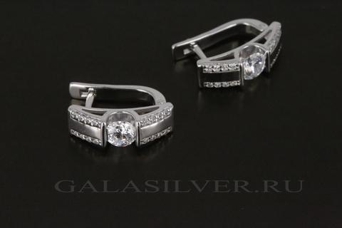 Серьги из серебра с фианитами 912020052E