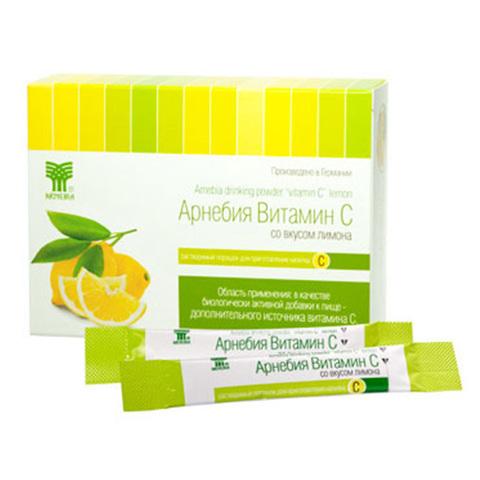 АРНЕБИЯ витамин С со вкусом лимона, растворимый порошок для приготовления напитка, 10шт