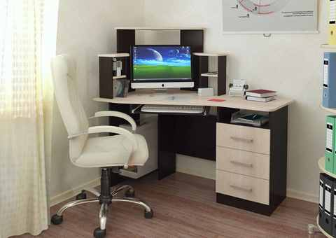Компьютерный стол Каспер БТС Венге/лоредо