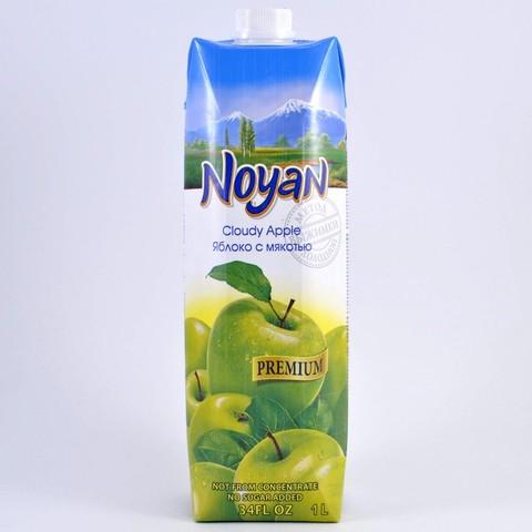 Сок яблочный прямого отжима с мякотью без сахара Noyan, 1л