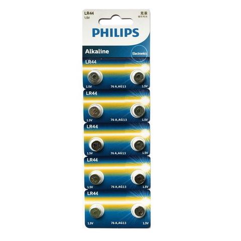 Батарейки часовые Philips LR44 (A76/AG 13) 10 BL