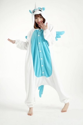 Кигуруми Единорог голубой