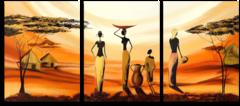 "Модульная картина ""Африканские девушки"""