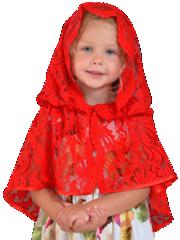 Неспадаемый платок детский
