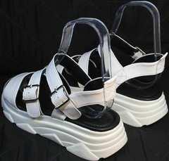 Летние сандали на большой подошве женские Evromoda 3078-107 Sport White