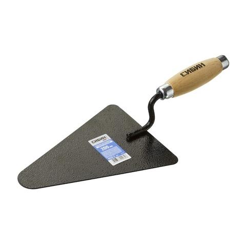 Кельма бетонщика СИБИН с деревянной усиленной ручкой, КБ