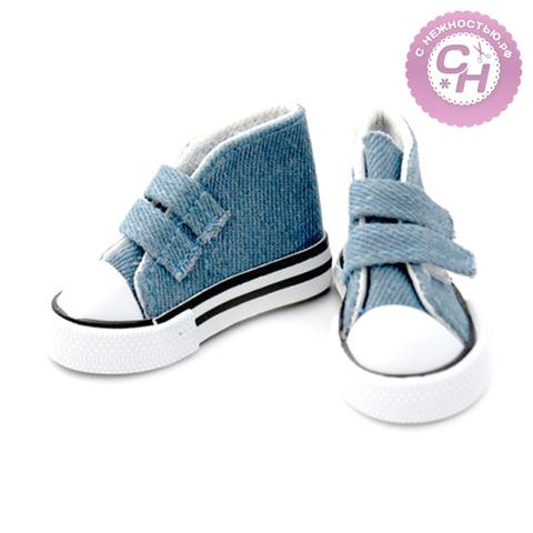 Обувь для кукол, кеды на липучке, 7-7,5 см по подошве, 1 пара.