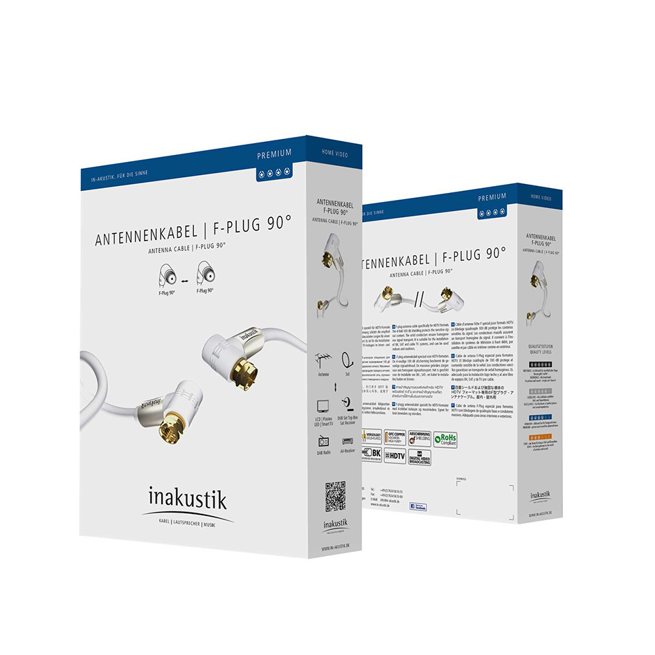 Inakustik Premium HDTV Antenna, 100 dB, F-Plug 90°