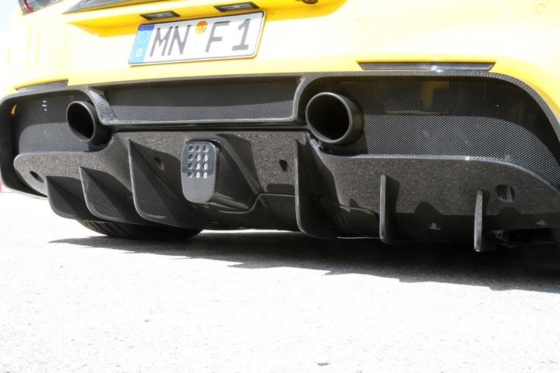 Карбоновая крышка воздушного открытия заднего диффузора Novitec Style для Ferrari 488 GTB