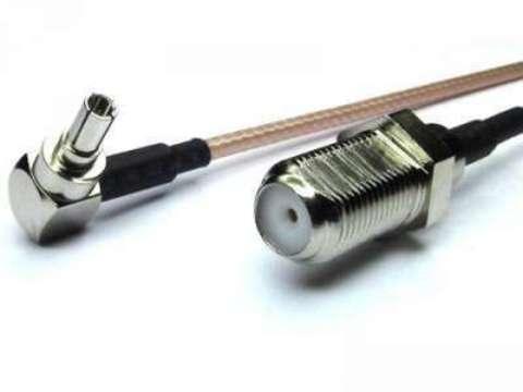 Антенный адаптер (пигтейл) F-female/CRC9 (25См)