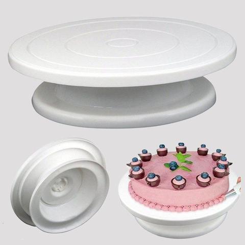 Столик поворотный, подставка для торта D28 H8 см (цвет микс)