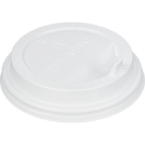 Крышка для стакана Huhtamaki 90 мм пластиковая белая с клапаном 100 штук в упаковке