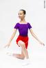 Kids set: T-leotard violet + skirt