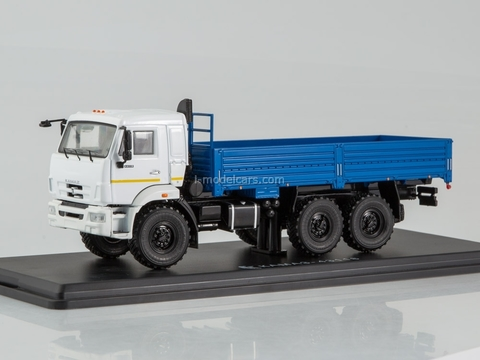 KAMAZ-43118 6x6 flatbed truck restyling white-blue 1:43 Start Scale Models (SSM)