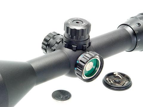 Прицел оптический Veber Black Fox 3-9x50 AO RG MD