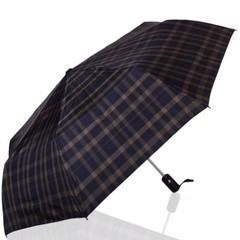 Зонт мужской в клетку ТРИ СЛОНА 907-5