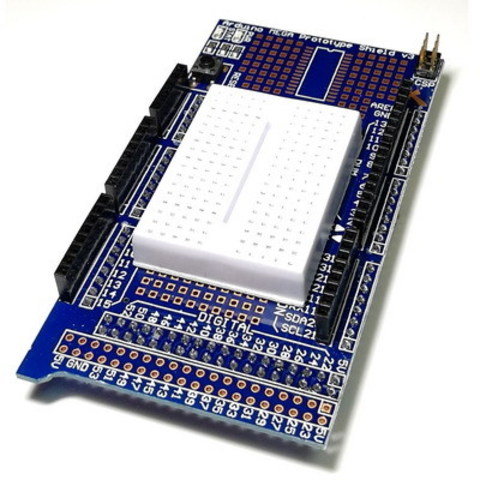 Плата расширения MEGA Proto Shield + Breadboard mini (170 точек)