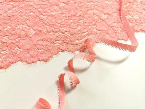 _Ажурная резинка, 10 мм, флорида (розово-коралловый), (Арт: К-262/10-1045), м
