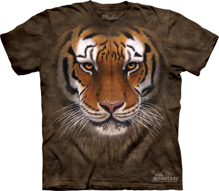 Футболка Mountain с изображением воинственного тигра -  Tiger Warrior