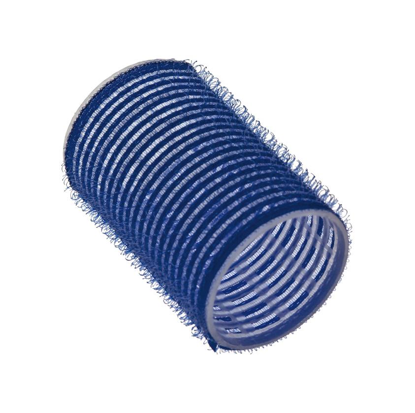Бигуди-липучки синие 40 мм, Sibel, 6 шт