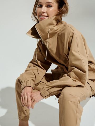 Куртка с кулисой по спинке из хлопка Беж
