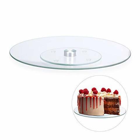 Столик поворотный стеклянный для торта D30 H3 см