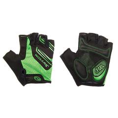 Велоперчатки JAFFSON SCG 46-0331 (чёрный/зелёный)