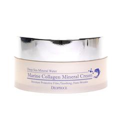 Deoproce Marine Collagen Mineral Cream - Омолаживающий крем с морским коллагеном