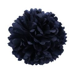 Помпон из бумаги, 30 см, черный