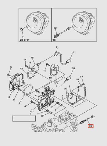 Термодатчик для лодочного мотора T40 Sea-PRO (9-19)