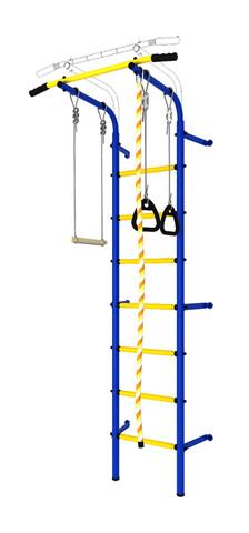 Шведская стенка аналог Next1 эконом (dsk с окрашенными ступенями) синий