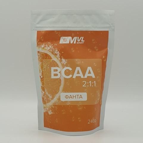 BCAA (БЦАА) 2:1:1 фанта MVL, 240 гр
