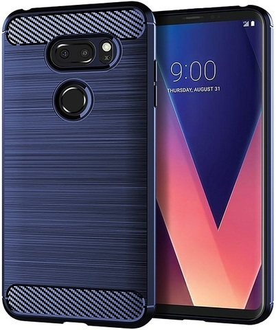 Чехол LG V30, V30+ цвет Blue (синий), серия Carbon, Caseport