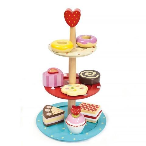 Le Toy Van. Игрушечная еда Этажерка с пирожными