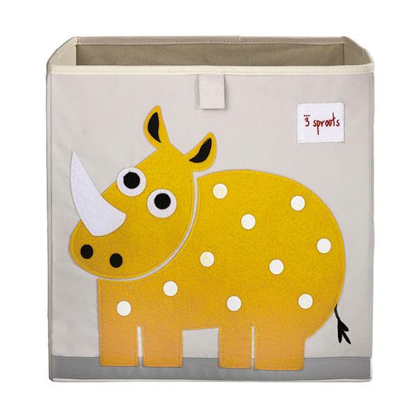 Коробка для хранения 3 Sprouts Носорог (жёлтый)