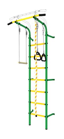 Шведская стенка аналог Next1 эконом (dsk с окрашенными ступенями) зеленый